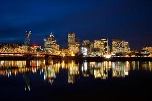 Portland à noite foto