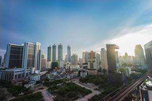 cidade de telhado superior scape em bangkok