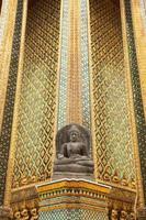 parede do templo de Buda. foto