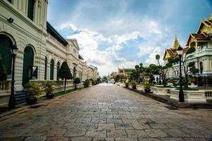 grande palácio e templo de wat phra kaew foto