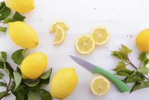 preparação de limão. foto