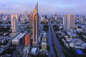 cidade de belo ponto de vista de bangkok foto