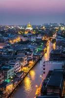 noite da cidade de banguecoque foto