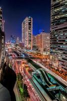 paisagem urbana de noite de bangkok foto