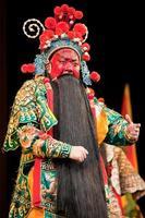 homem de ópera de china com rosto vermelho