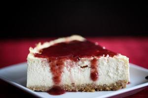 cheesecake ao estilo de nova york foto