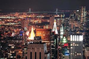 skyline da cidade de nova york foto