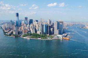 vista do céu da cidade de nova york foto