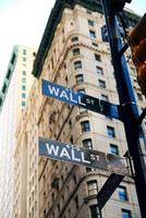 cidade de nova york wall street foto