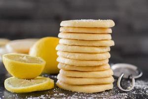 biscoito de limão - horiz foto