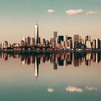 skyline do centro de manhattan foto