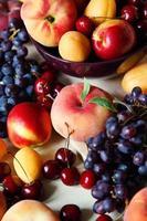fundo de frutas foto