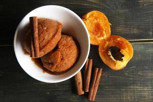 sobremesa de frutas saudáveis foto