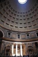 15:00 pheon relógio de sol efeito cúpula teto buraco roma itália foto