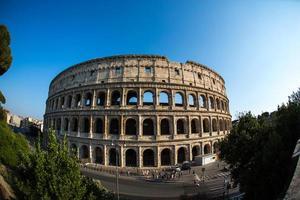 o Coliseu, em Roma, Itália. foto