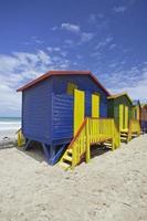 cabanas de praia, cidade do cabo foto