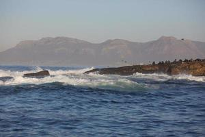 bela paisagem do mar na África do Sul foto