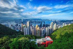 skyline da cidade de hong kong do pico foto
