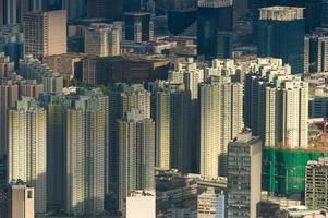 paisagem urbana de edifício residente lotado foto