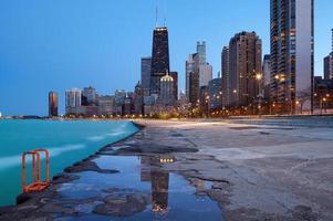 skyline de chicago. foto