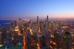 edifício de chicago foto