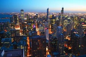 vista superior de chicago foto
