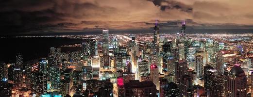 panorama urbano do horizonte de chicago foto