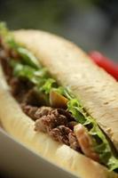 sanduíche de carne; gostoso foto