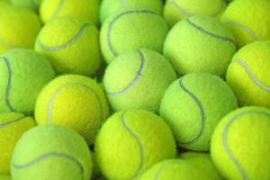 bola de tênis como plano de fundo do esporte foto