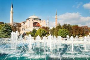 mesquita hagia sophia em istambul turquia foto