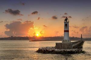 pôr do sol em istambul, turquia foto