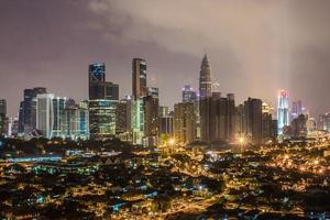 cidade de kuala lumpur à noite