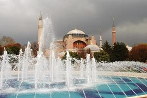 hagia sophia em istambul, turquia foto