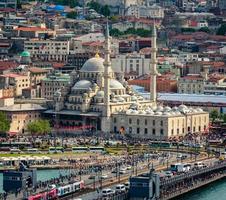 Vista aérea de Istambul foto
