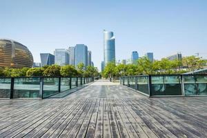 bela paisagem urbana de hangzhou, na china foto