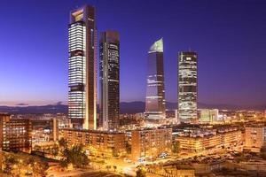 madrid, espanha distrito financeiro foto