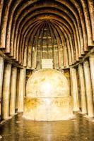chaitya em cavernas antigas bhaja em lonavala, maharashtra, índia foto