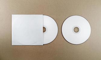 disco compacto em branco foto