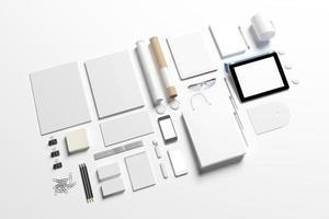 modelo de conjunto de identidade corporativa em branco foto