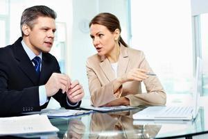 discussão de negócios foto