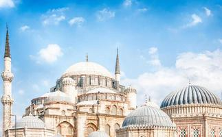 bela mesquita em Istambul foto