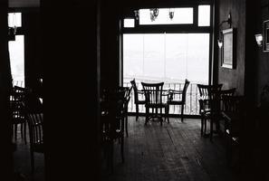 café vazio em Istambul foto