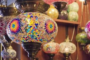 lâmpadas de mosaico de vidro foto