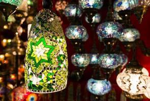 lanternas turcas coloridas