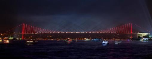 ponte do Bósforo à noite - Istambul