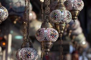 lâmpadas turcas tradicionais foto
