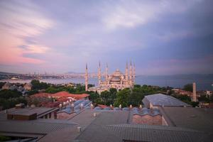mesquita azul e hagia sophia foto