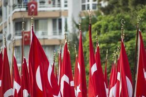 cerimônia do dia nacional na Turquia. foto