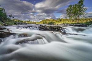 fluxo cristalino no parque nacional de dovrefjell, noruega