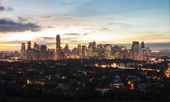 manila skyline, filipinas foto